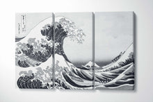 Load image into Gallery viewer, [canvas wall art] black and white wave