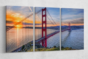 [canvas print] - Golden Gate
