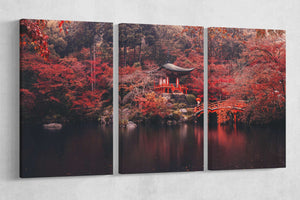[Canvas wall art] - Japan temple print