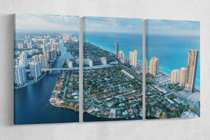[canvas print] - Miami aerial