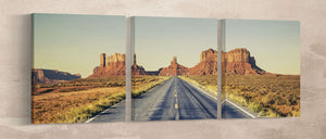 Canvas wall art monument valley road