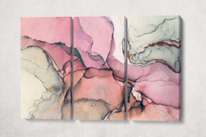 [Canvas print] - Pink marble wall art