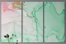 Load image into Gallery viewer, [Wall art] Abstract marble art green and pink