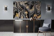 Load image into Gallery viewer, [Modern wall art] Black and gold