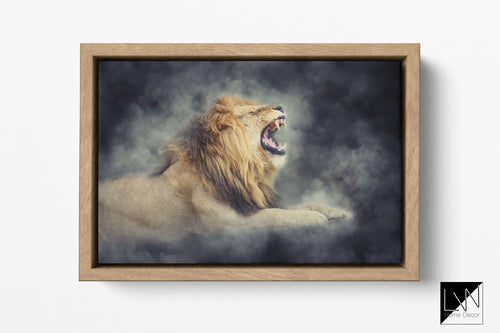 Lion print for wall hanging