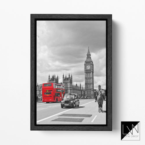Big Ben, London wall art canvas leather print
