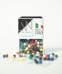 [World map print] - Push pins
