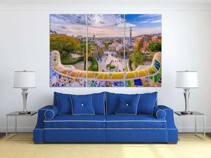 [Large wall art] - Barcelona Park Guell