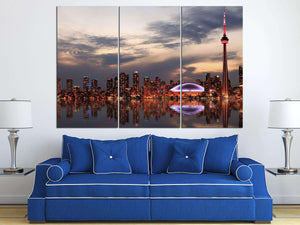 [canvas] - Toronto tryptich home decor