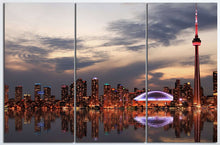 Load image into Gallery viewer, [canvas] - Toronto wall art tryptich