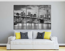 Load image into Gallery viewer, [canvas home art] - Brooklyn Bridge black and white print