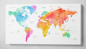 [Canvas wall decor] - World map print