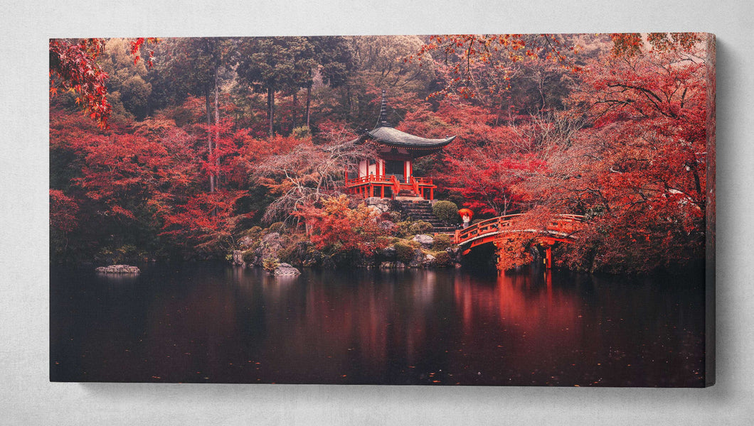 [Canvas wall decor] - Kyoto print autumn