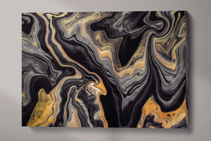 [Modern wall art] Black and gold