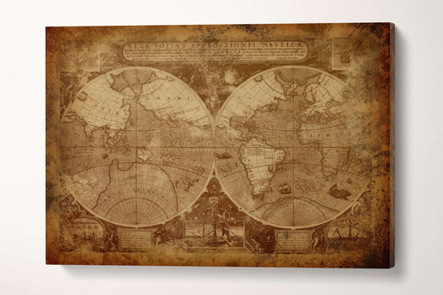 Canvas wall art world map