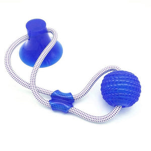 Silicone Suction Cup Tug dog toy