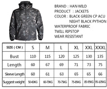 Load image into Gallery viewer, Military Camouflage Tactical Jacket Waterproof & Windproof