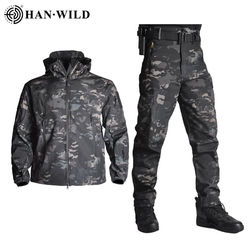 Waterproof Soft Shell Tactical Camouflage Jacket & Pants
