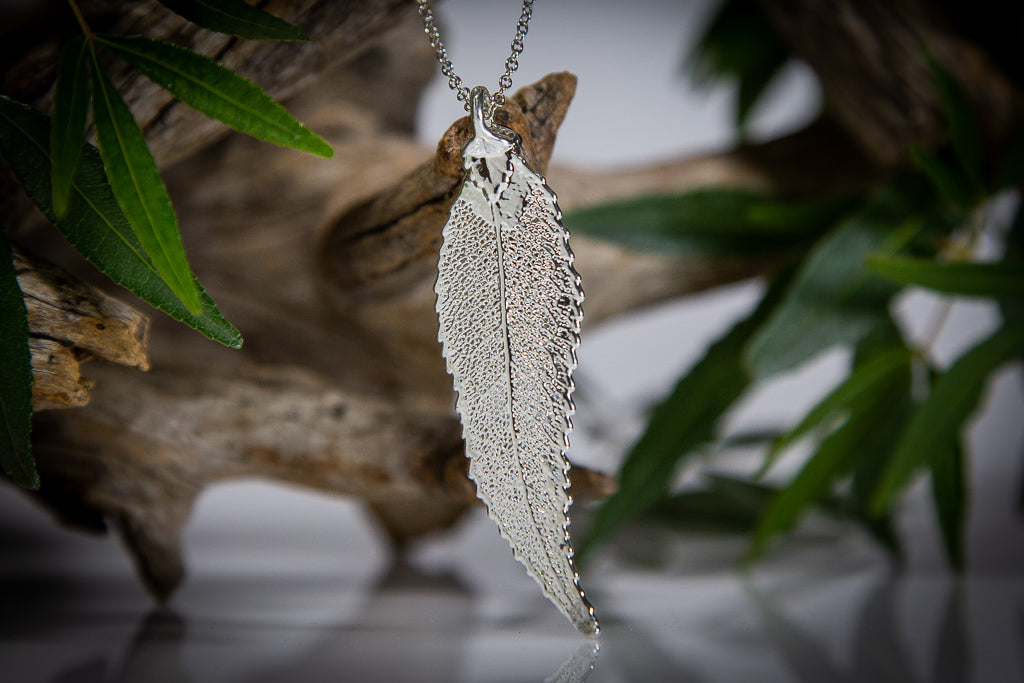 Christmas Bush of NSW Leaf Silver Pendant