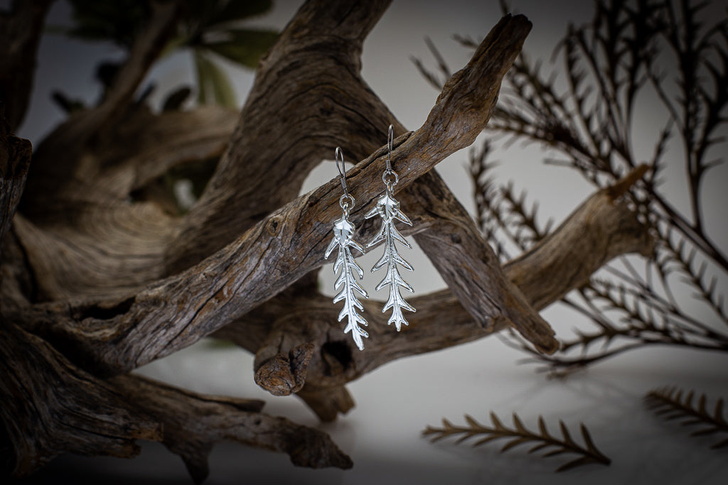 Grevillea Leaf Silver Earrings