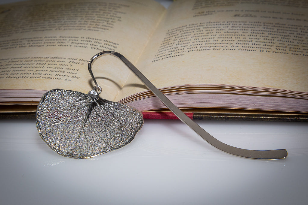 Apple Gum Eucalyptus Leaf Silver Bookmark