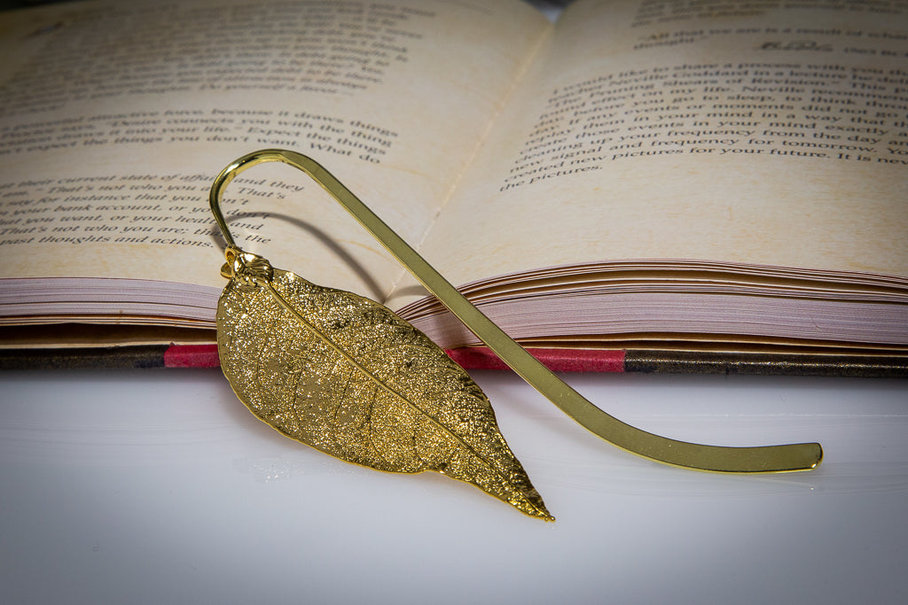 Red Gum Eucalyptus Leaf Gold Bookmark