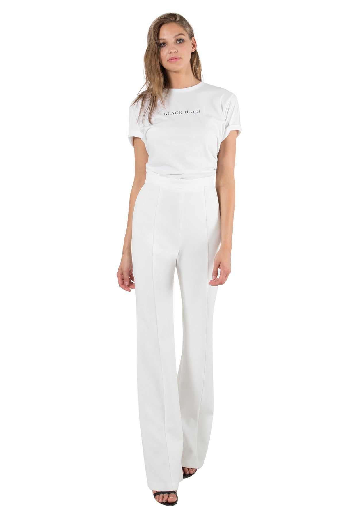 Black Halo Isabella Pant Porcelain White