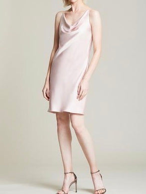 Halston Cowl Satin Slip Dress