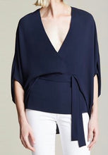 Load image into Gallery viewer, Halston Drape Sleeve Top