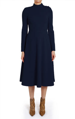 Black Halo Antonia Dress Pacific Blue