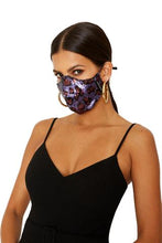 Load image into Gallery viewer, Black Halo Face Mask Sequin