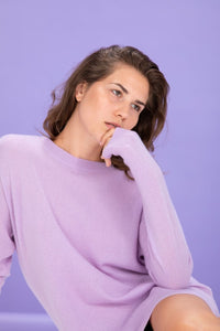Crush Cashmere Cartagena Boyfriend Jumper Lilac