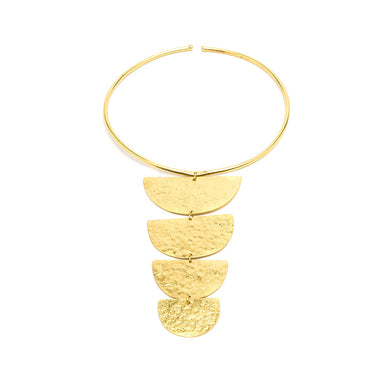 Vestopazzo Egypt Gold Choker Necklace