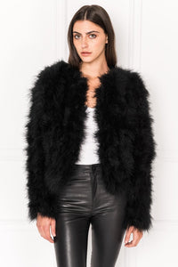 Lamarque Deora Feather Jacket Black