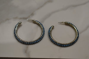 Urban Blessings Turquoise Hoop Earrings