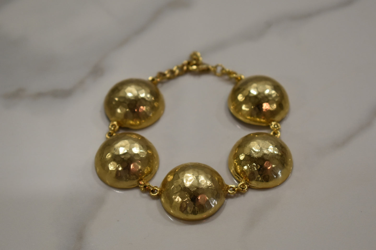 Urban Blessings Gold Ball Bracelet