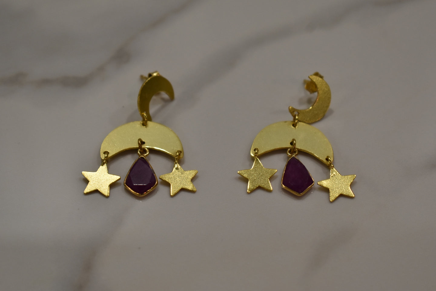Ashiana Star Moon Earrings