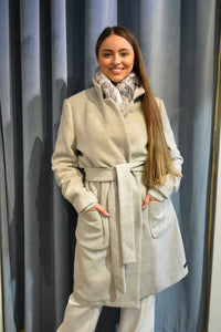 Scotch and Soda Wool Wrap Coat with Belt