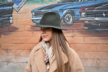 Load image into Gallery viewer, Wyeth Mikal Cashmere Fedora Olive