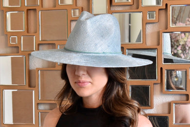 Wyeth Stevie Straw Hat with Suede Seafoam