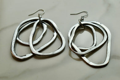 Vestopazzo Tre Gocce 3 Abstract Earrings