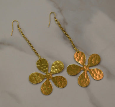 Vestopazzo Gold Flower Earrings