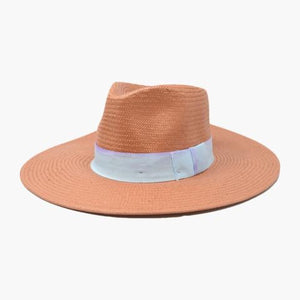 Wyeth Teri Straw with Ribbon Terrocotta Hat