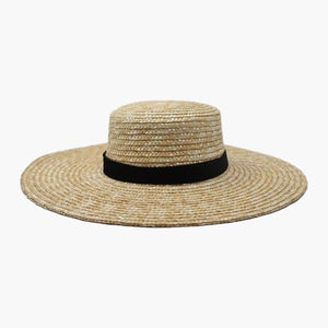 Wyeth Nellie Straw Boater Hat Natural