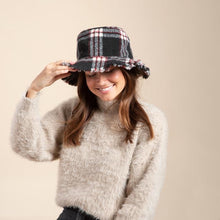 Load image into Gallery viewer, Hatattack Flannel Plaid Bucket Hat Plaid