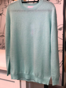 Crush Cashmere Cartagena Boyfriend Jumper Mint Blue