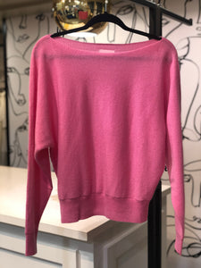Crush Cashmere Yangon Boat Neck Candy Pink