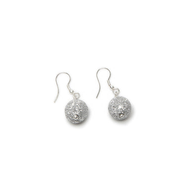 Vestopazzo Crushed Silver Ball Earrings