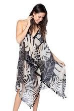 Load image into Gallery viewer, Pool to Party Maxi Tassel Dress in Night Leaves