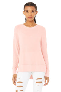 Alo Glimpse Long Sleeve Pink Mauve